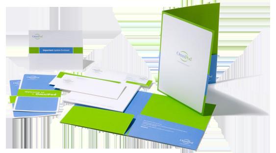 Signature graphics marketing material for Custom marketing materials